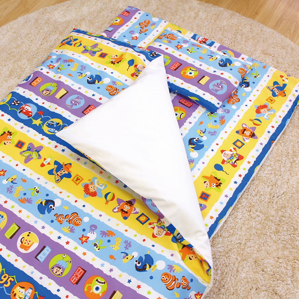 お昼寝布団 7点セット ディズニー/ピクサー 綿100% ブルー 青