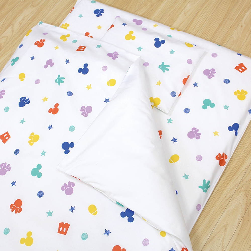 お昼寝布団 7点セット ミッキー ミニー 綿100% ホワイト 白