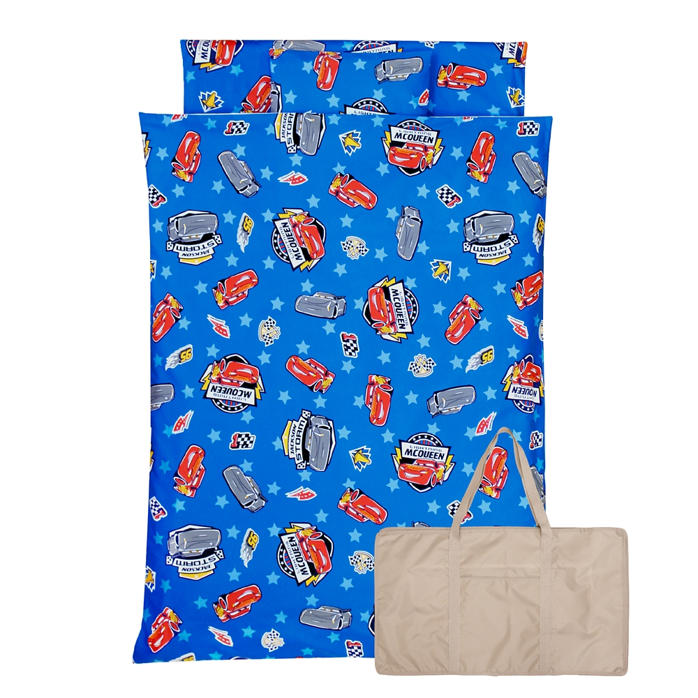 お昼寝布団 7点セット カーズ 綿100% ブルー 青