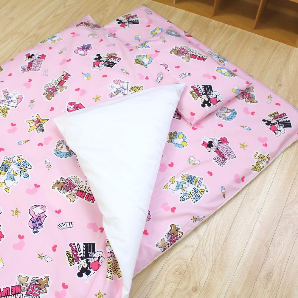 お昼寝布団 7点セット ミッキー&フレンズ 綿100% ピンク 日本製