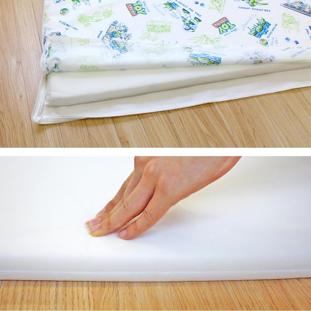 お昼寝布団 7点セット トイ・ストーリー 綿100% ホワイト 白