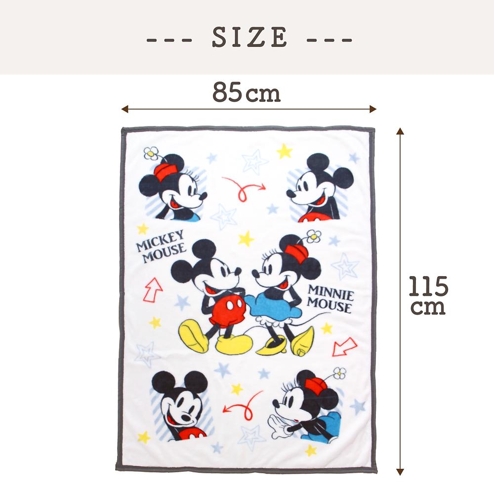 毛布 ミッキー ミニー 85×115cm ニューマイヤー素材