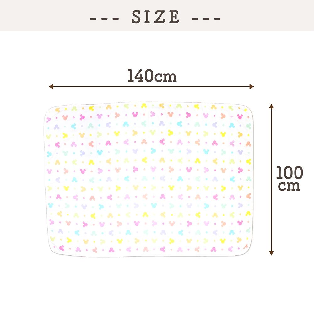 6重ガーゼケット ミッキーアイコン 100×140cm 綿100%