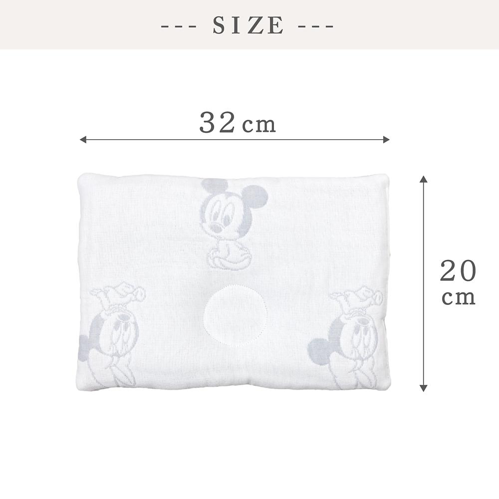 6重ガーゼベビーまくら ベビーミッキー&ミニー 20×32cm 綿100%