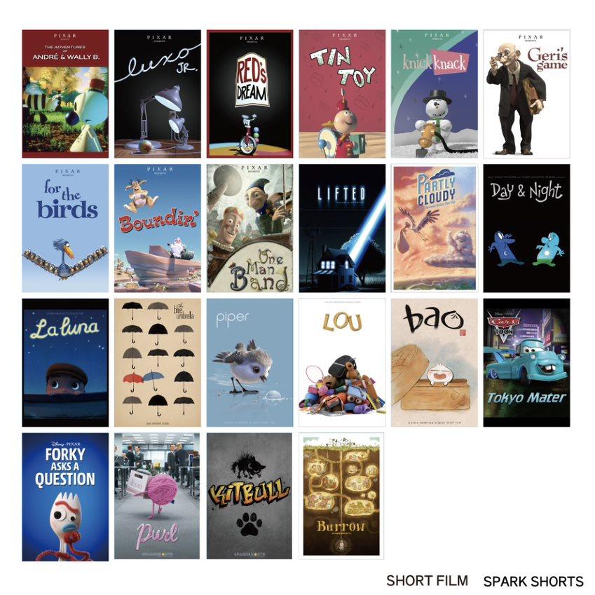 PIXAR! PIXAR! PIXAR!/ポスターアート/ショートフィルム・スパークショーツ/ポストカードセット