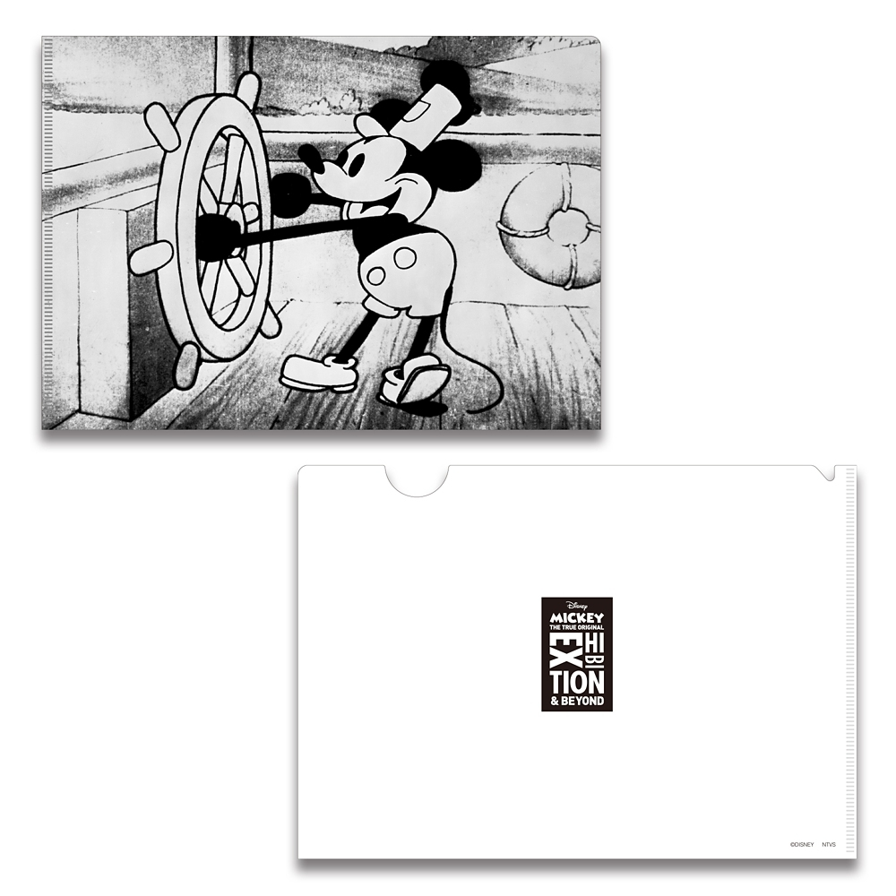ミッキーマウス展/蒸気船ウィリー/FF/A5クリアファイル1