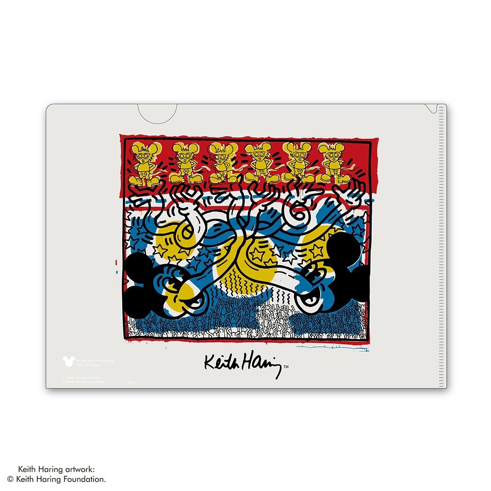 ミッキーマウス展/キース・へリング/MAGICクリアファイル2