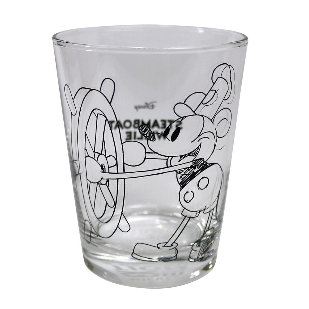 ミッキーマウス展/蒸気船ウィリー/SK/グラス