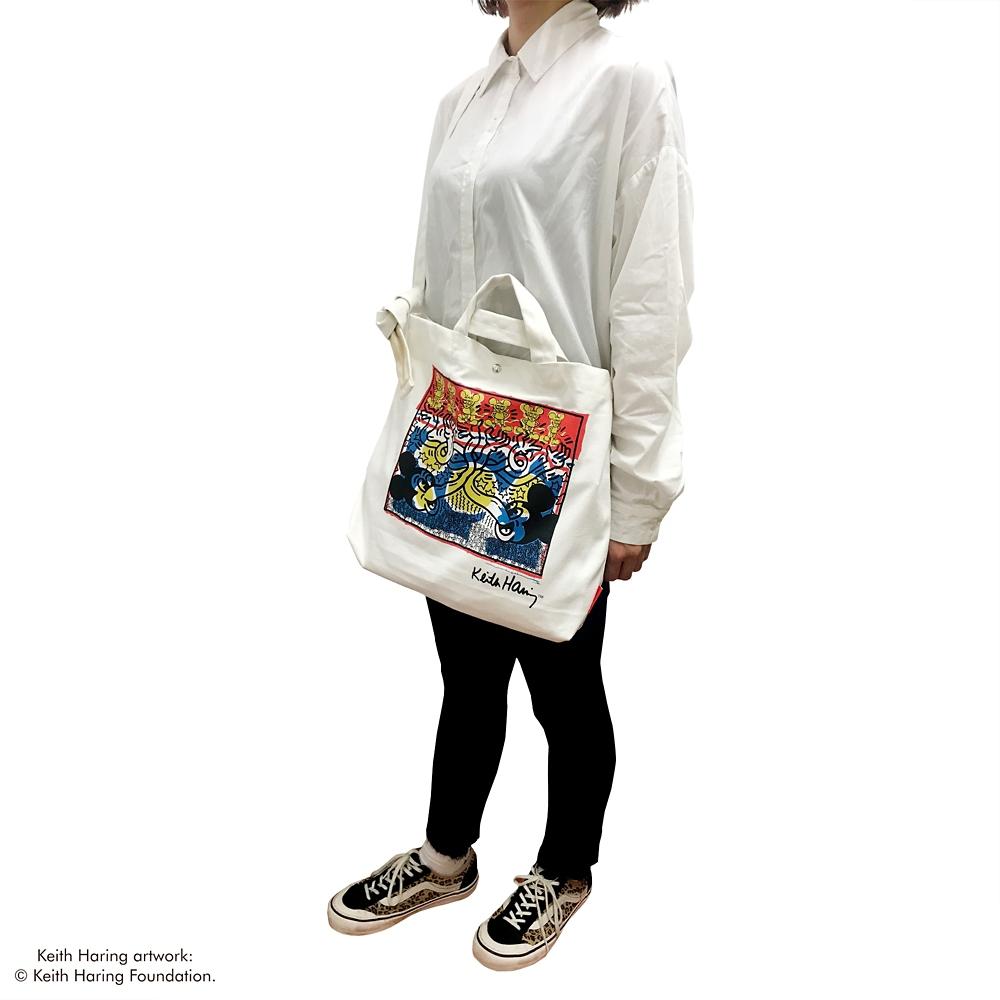 ミッキーマウス展/キース・へリング/トートバッグ