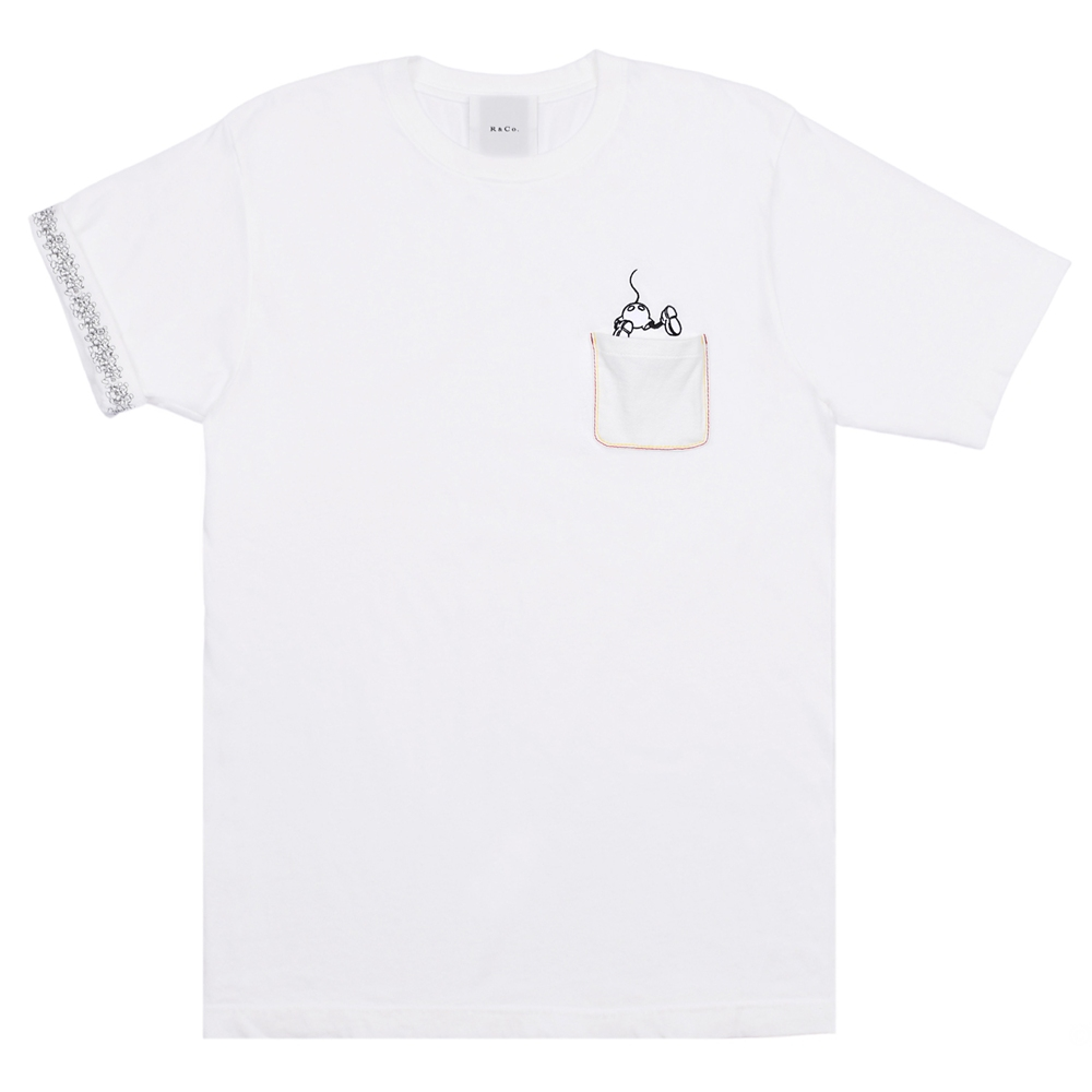 R&Co. Mickey Mouse pocket T shirt  WHITE/COLOR  M