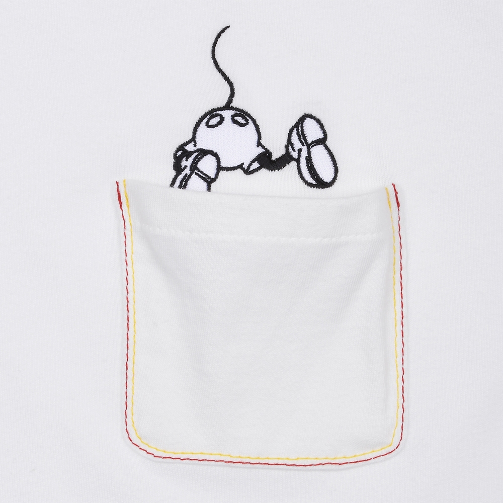 R&Co. Mickey Mouse pocket T shirt  WHITE/COLOR  L