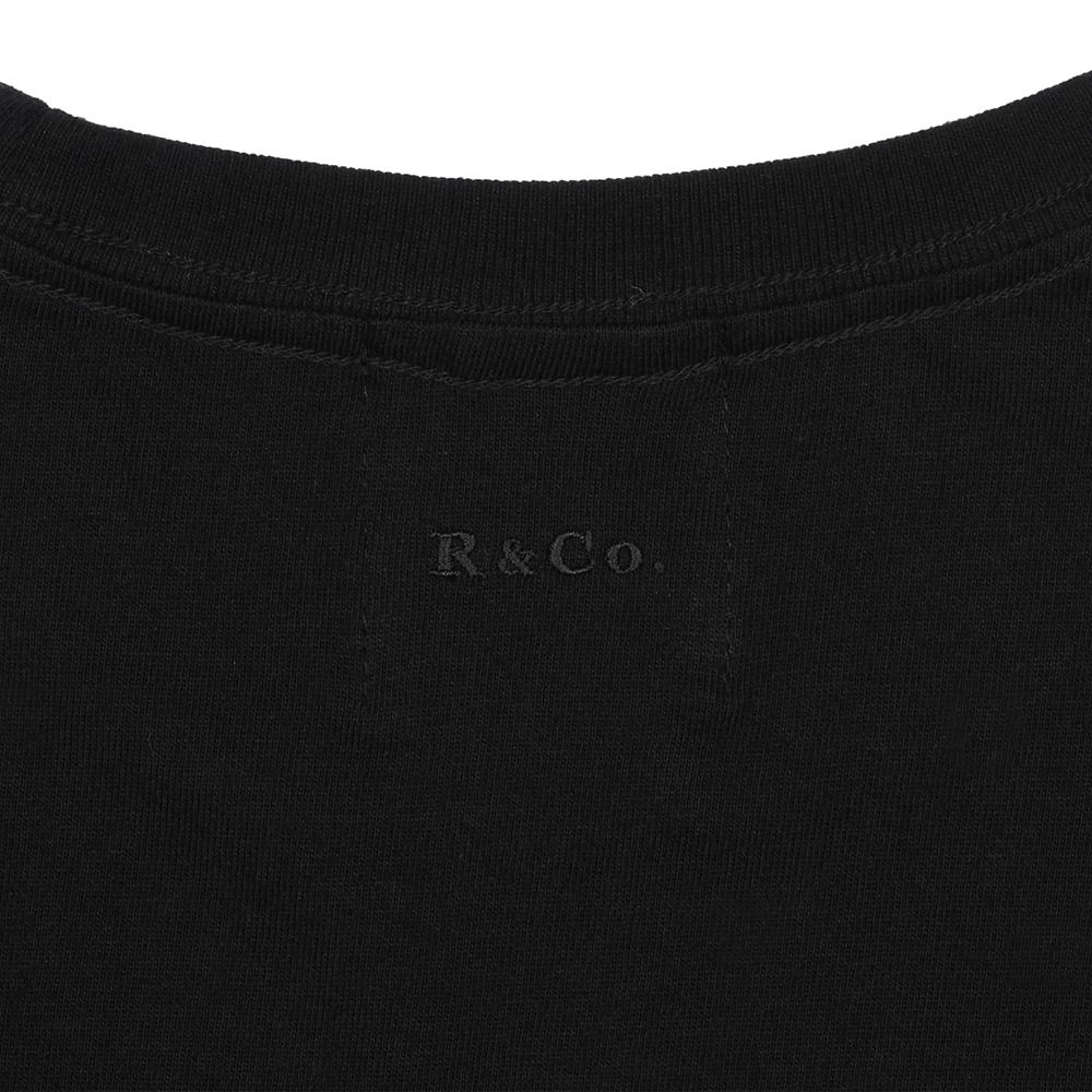 R&Co. Mickey Mouse pocket T shirt  BLACK/COLOR  L