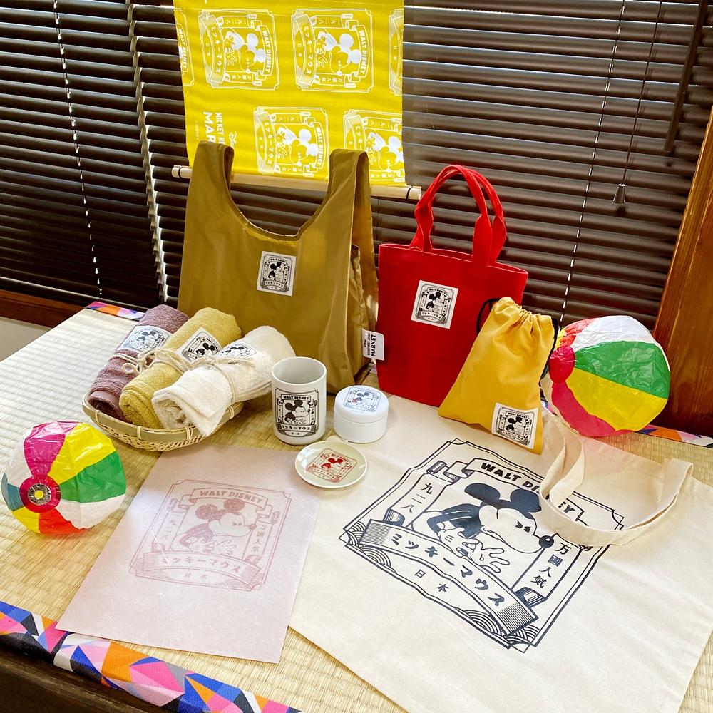 【ミッキーネクストジャパンマーケット】手拭い(スタンプ)