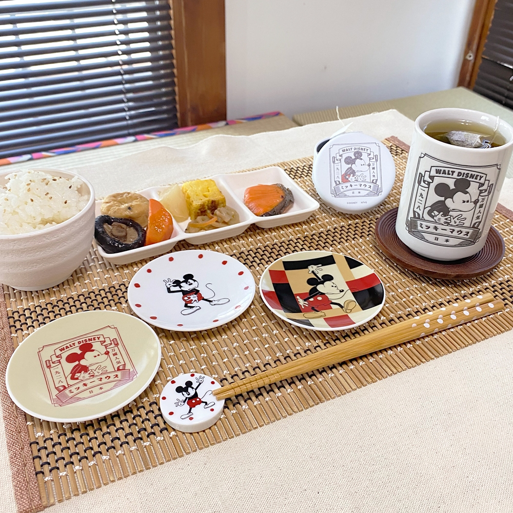 【ミッキーネクストジャパンマーケット】豆皿(スタンプ)