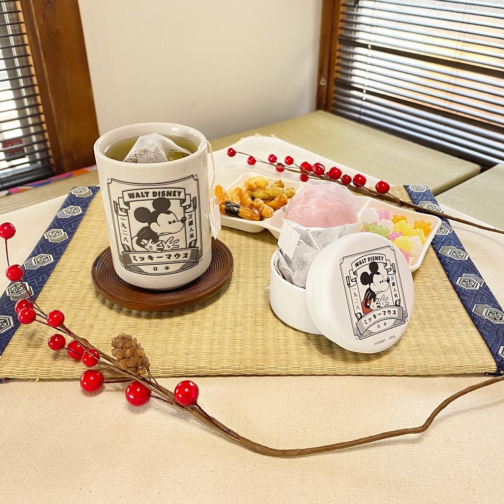 【ミッキーネクストジャパンマーケット】お茶缶(スタンプ)