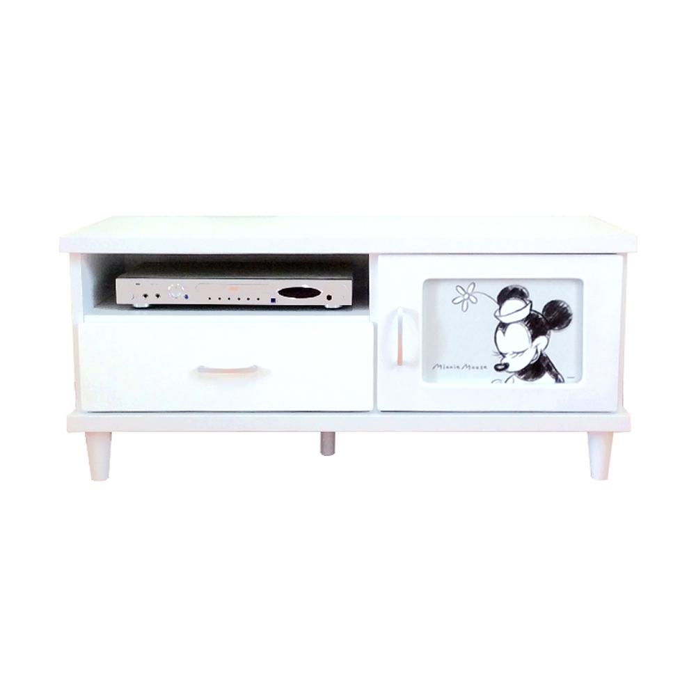 102cm幅テレビ台 キャンバスミニーマウス