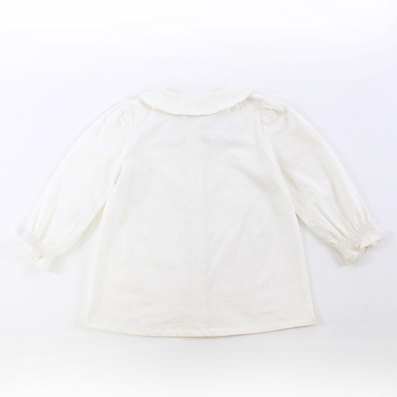 ミッキー&ミニー 衿刺繍ブラウス(80)