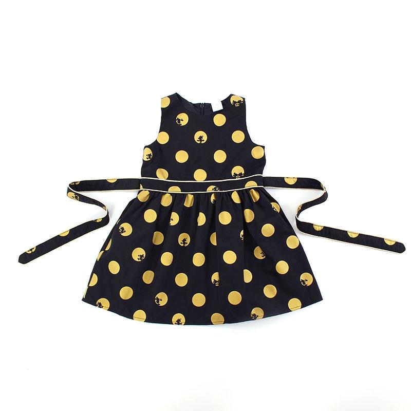 ミッキー&ミニー ドット柄ドレス(80)