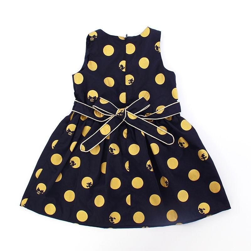 ミッキー&ミニー ドット柄ドレス(90)
