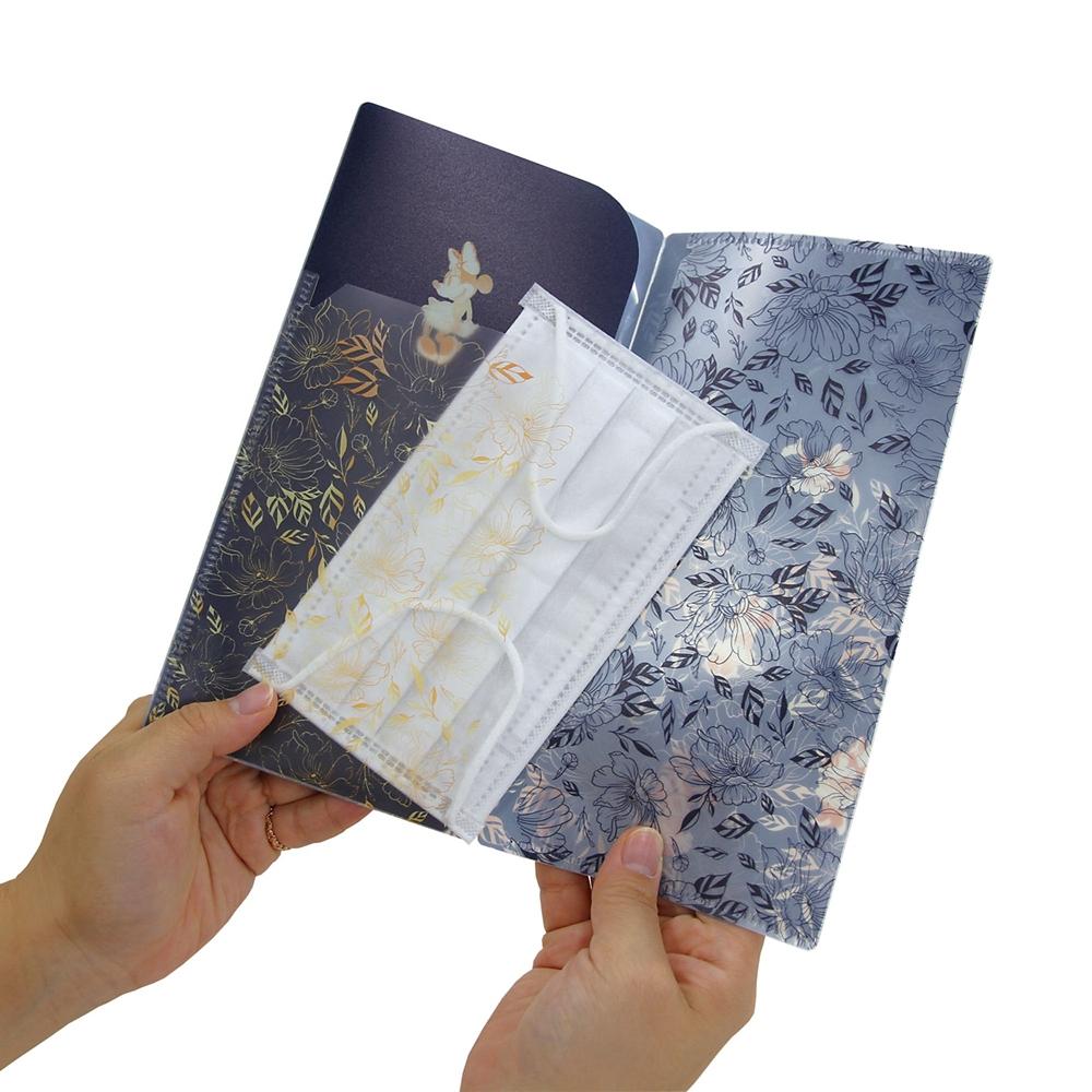 マスクケース(3ポケットタイプ) お花・くまのプーさん
