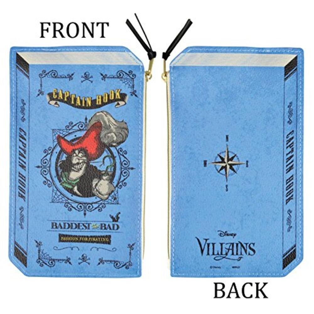 ヴィランズ 2Dブック型ポーチ(フック船長)