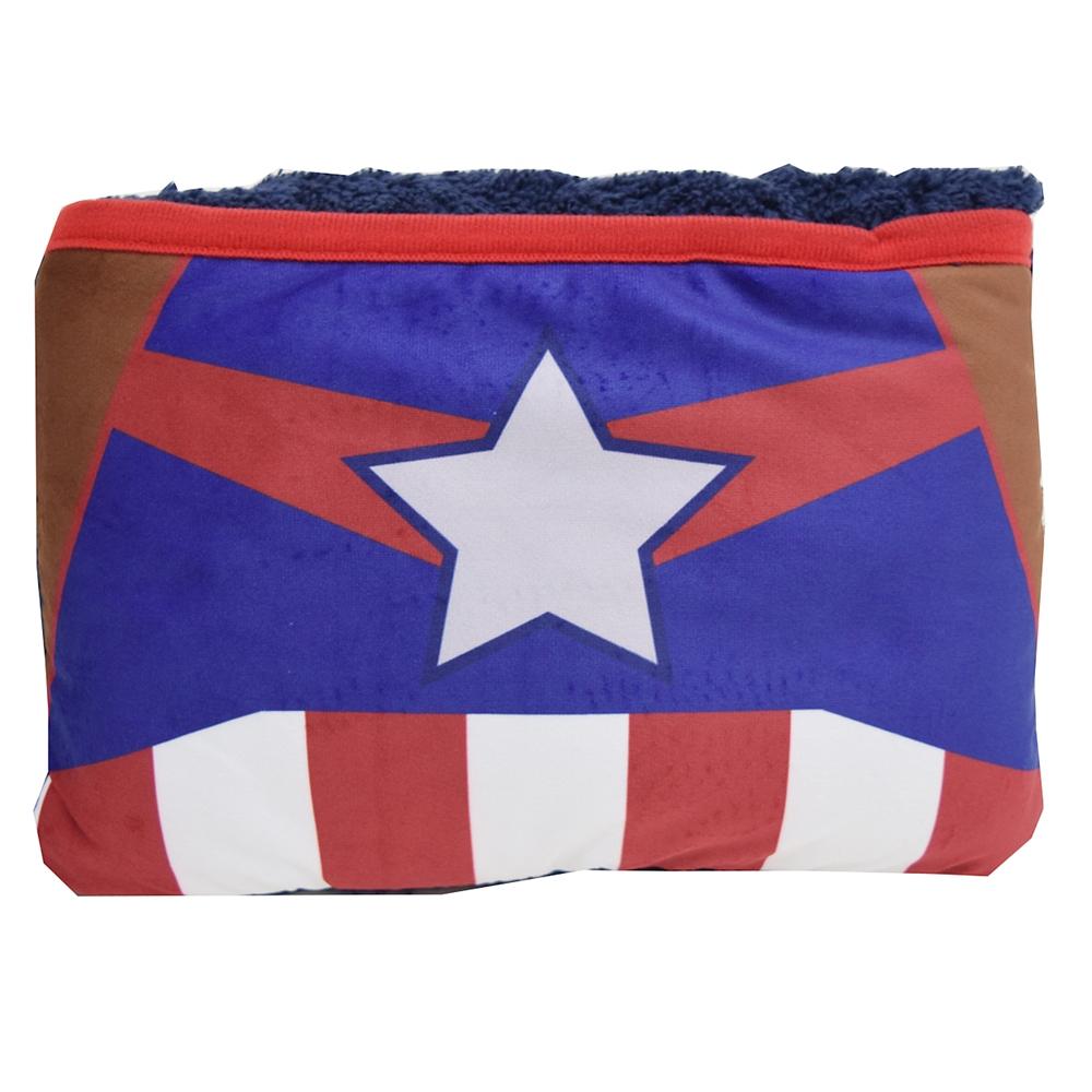 【モリシタ】MARVEL バッグインブランケット キャプテンアメリカ