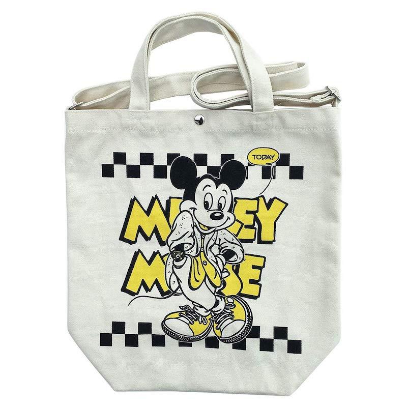 【 Disney 】 2WAY トートバッグ ミッキー/チェッカーパタ-ン