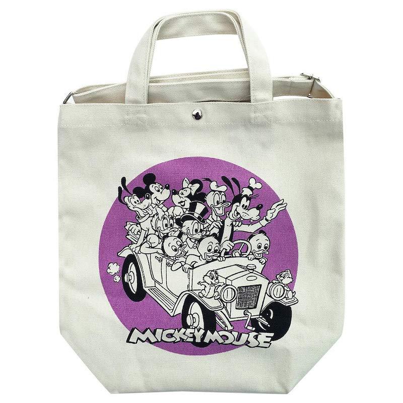 【 Disney 】 2WAY トートバッグ ミッキー&フレンズ/ドライブ