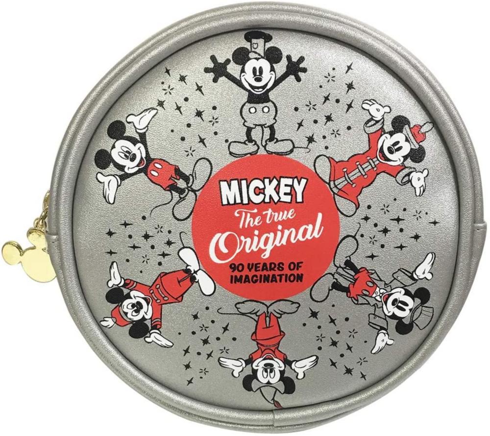 ディズニー 合皮丸型ポーチ ミッキーマウス サークル