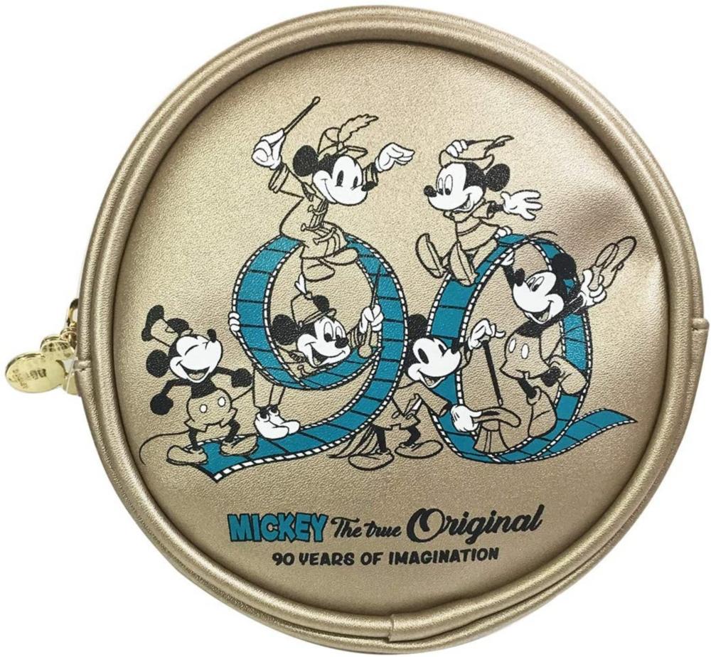 ディズニー 合皮丸型ポーチ ミッキーマウス フィルム