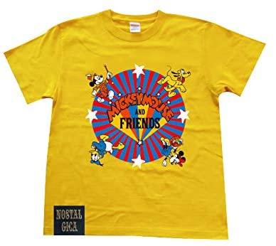 ノスタルジカ Tシャツ ミッキー&フレンズ ロゴ イエロー L