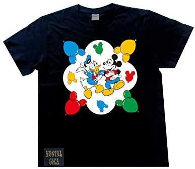 ノスタルジカ Tシャツ ミッキー&ドナルド バルーン ブラック M