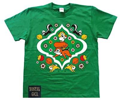 ノスタルジカ Tシャツ チップ&デール グリーン L