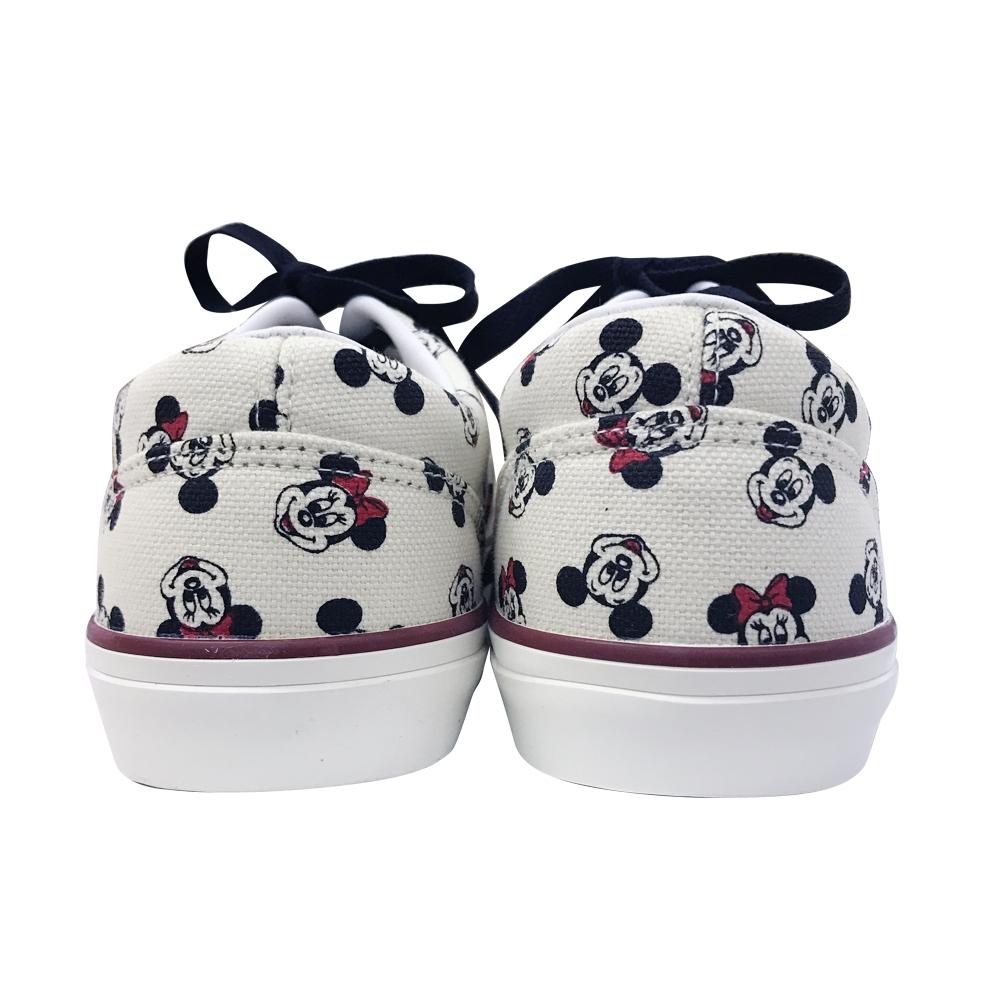 【 Disney 】 ローカットスニーカー ミッキーミニー/パターン/ホワイト 24-25cm