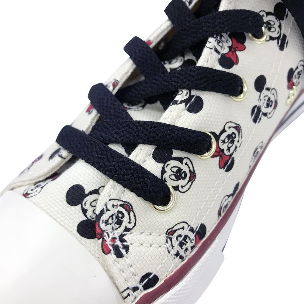 【 Disney 】 ハイカットスニーカー ミッキーミニー/パターン/ホワイト 24-25cm