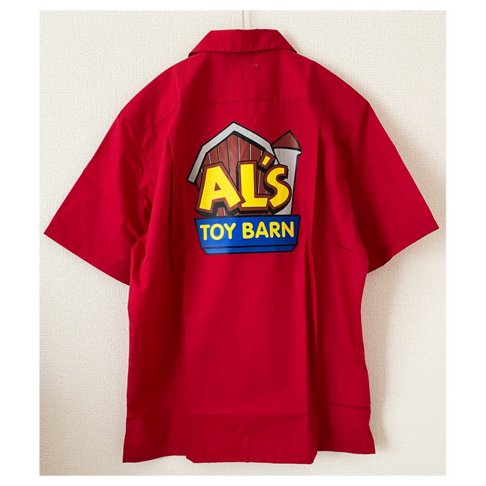 トイ・ストーリー Al's Toy Barn  ロゴ オープンシャツ L