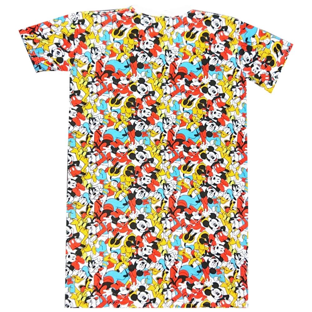 ディズニー ミッキーマウス&フレンズ ぎっしり 総柄 ロングTシャツ