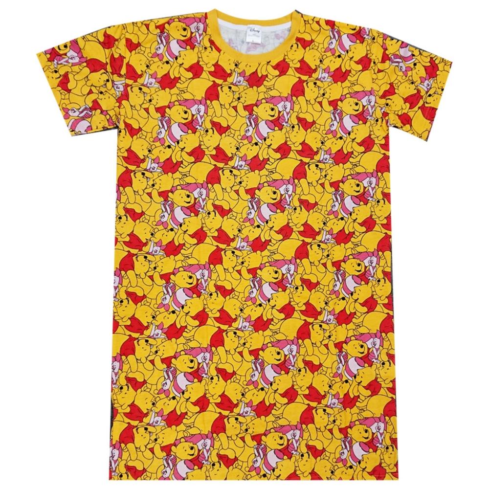 ディズニー くまのプーさん ぎっしり 総柄 ロングTシャツ