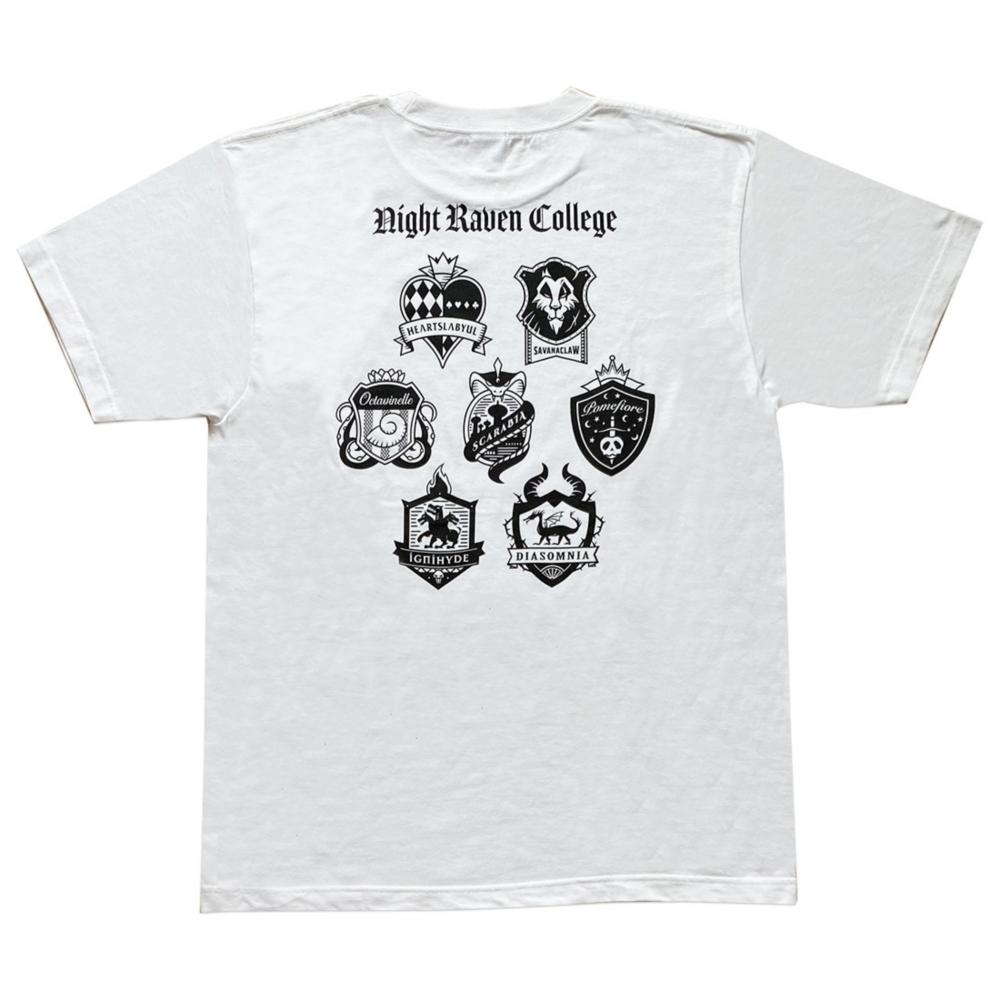 ディズニー ツイステッドワンダーランド Tシャツ  モノクロエンブレム/Tシャツ/XL