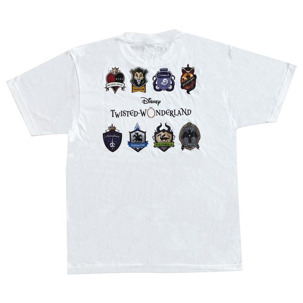 ディズニー ツイステッドワンダーランド Tシャツ  カラーエンブレム/Tシャツ/L