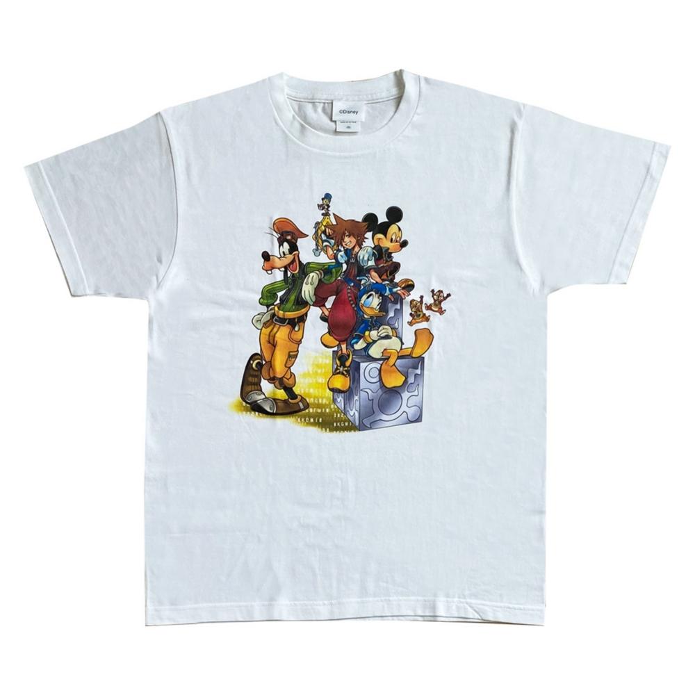 ディズニー キングダム ハーツ Tシャツ 集合 / ホワイト M