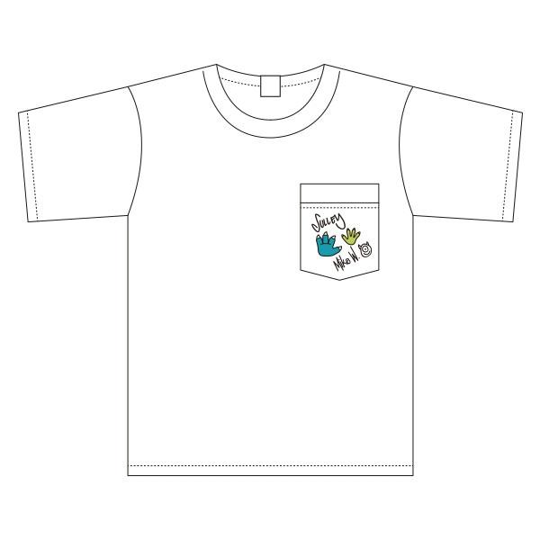 ディズニー/ピクサー モンスターズ・インク 胸ポケットワンポイント刺繍 ワイドTシャツ