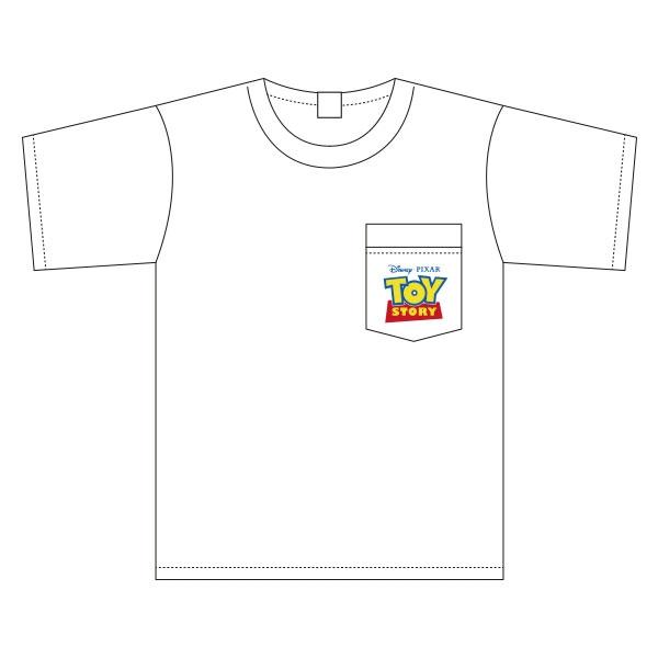 トイ・ストーリー 胸ポケットワンポイント刺繍 ワイドTシャツ