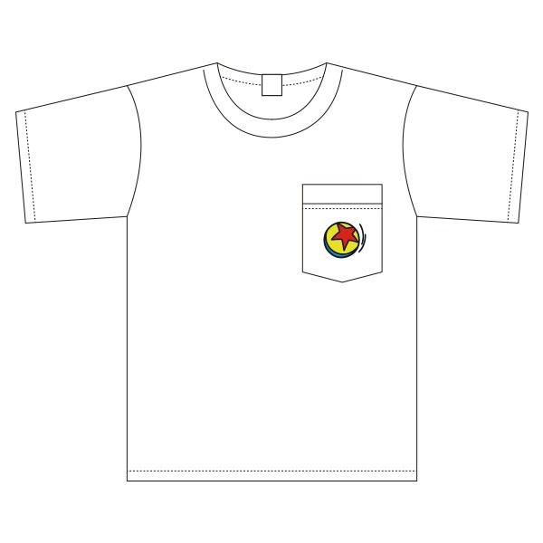 トイ・ストーリー ピクサーボール 胸ポケットワンポイント刺繍 ワイドTシャツ