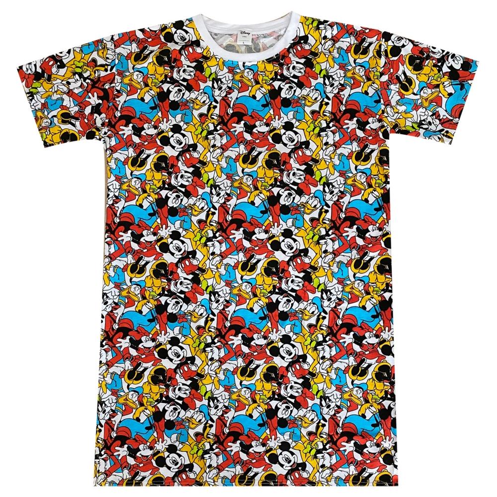ディズニー ミッキーマウス&フレンズ ぎっしり 総柄プリント ロングTシャツ