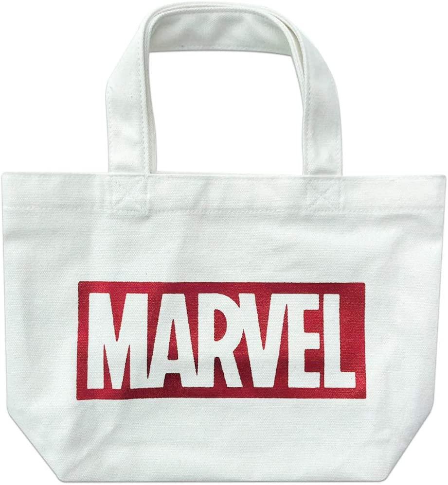 MARVEL マーベル ロゴランチバッグ WHITE