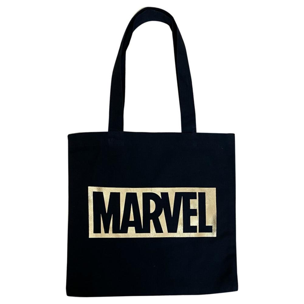 MARVEL マーベル カラートート / ブラック×ゴールド(ロゴ)