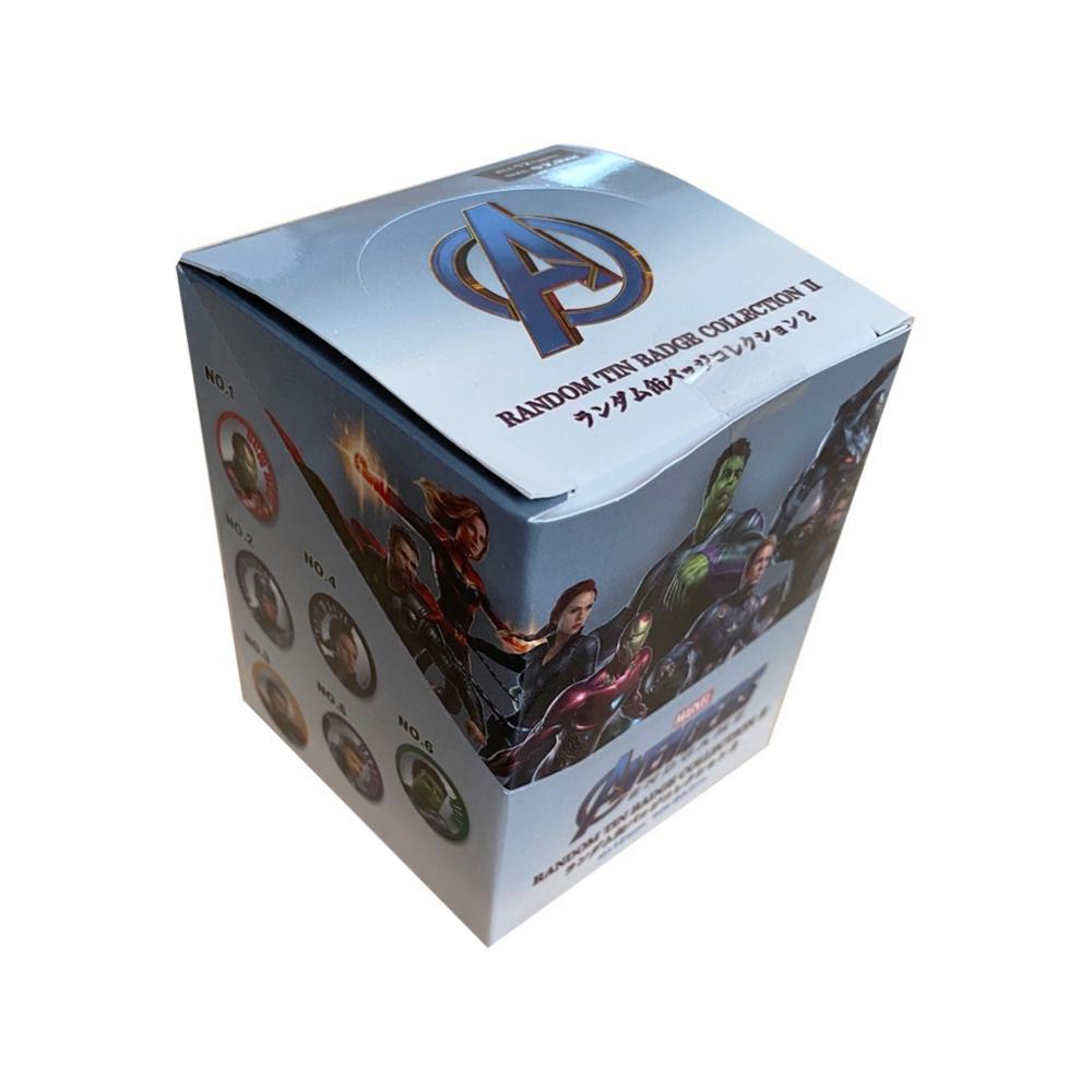 MARVEL マーベル 缶バッジアベンジャーズ エンドゲーム2BOX