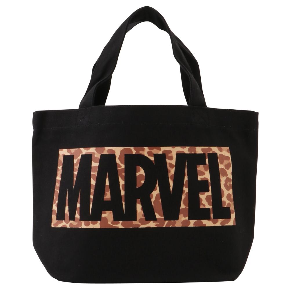 MARVEL マーベル ランチバッグ / ブラック・ロゴレオパード