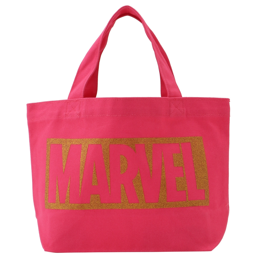 MARVEL マーベル ランチバッグ / ピンク・ロゴGOLD
